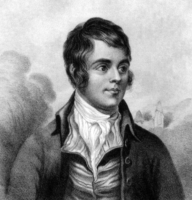 Robert Burns image via shutterstock.com