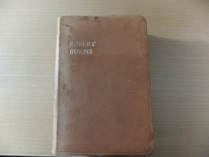 My grandmother's book of Burns poems, now mine, from circa 1900. Rebound in leather by my father, a bookbinder, circa 1965
