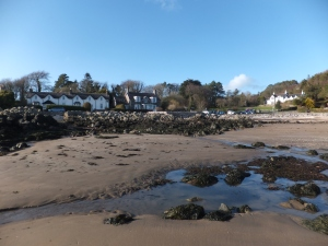 The pretty seaside village of Rockcliffe