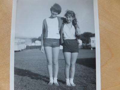 1968, summer holidays: Elspeth and me aged 12